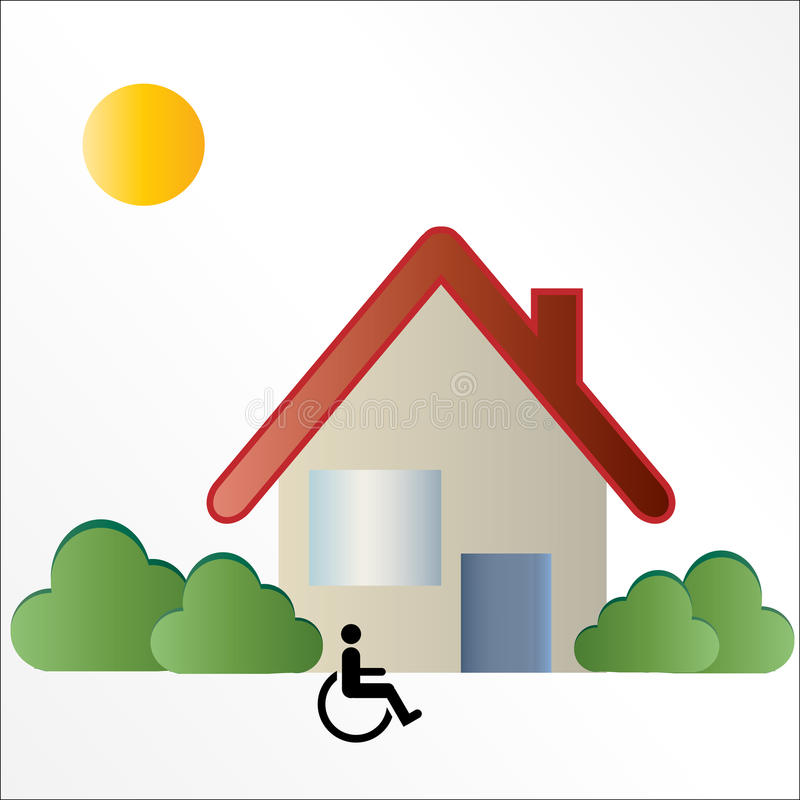 Signe handicapé de logo de boîtier illustration libre de droits
