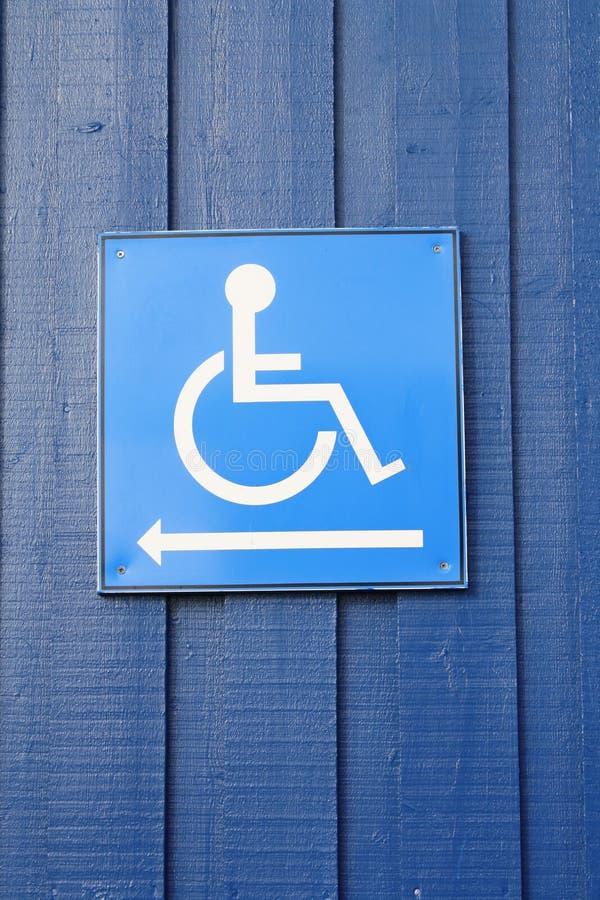 Signe handicapé de toilette image stock