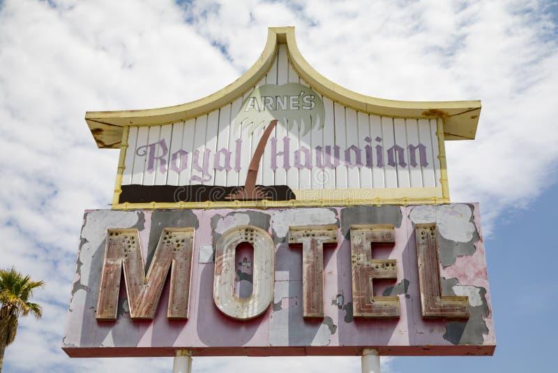 Signe hawaïen royal de motel du ` s d'Arne image libre de droits