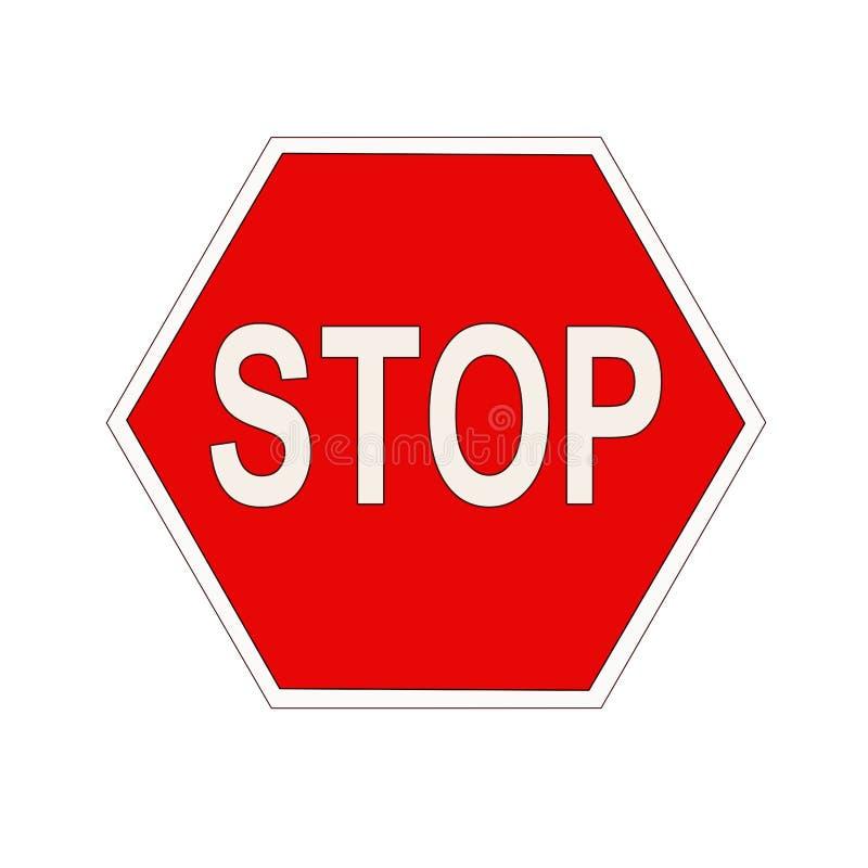 Signe hexagone d'arrêt illustration de vecteur