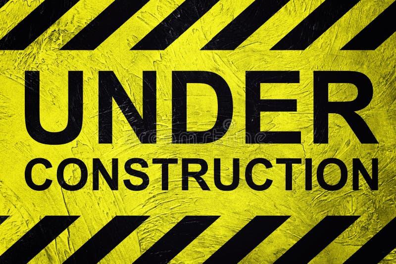 Signe industriel en construction Rétro type photos libres de droits
