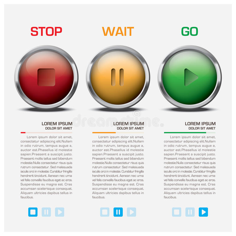 Signe Infographic de feu de signalisation illustration libre de droits