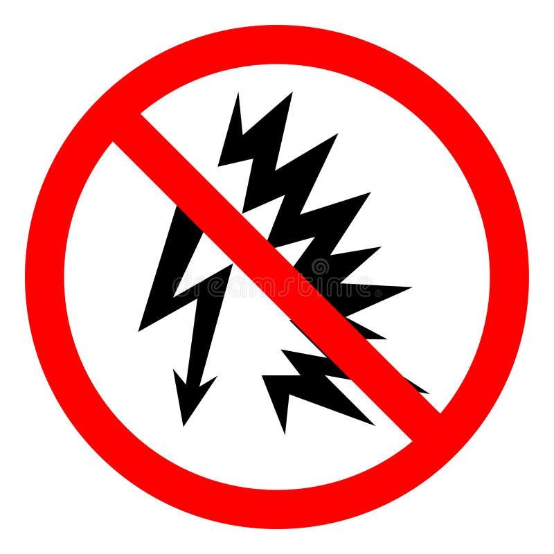 Signe instantané de symbole d'arc de risque de blessure, illustration de vecteur, isolat sur le label blanc de fond EPS10 illustration stock