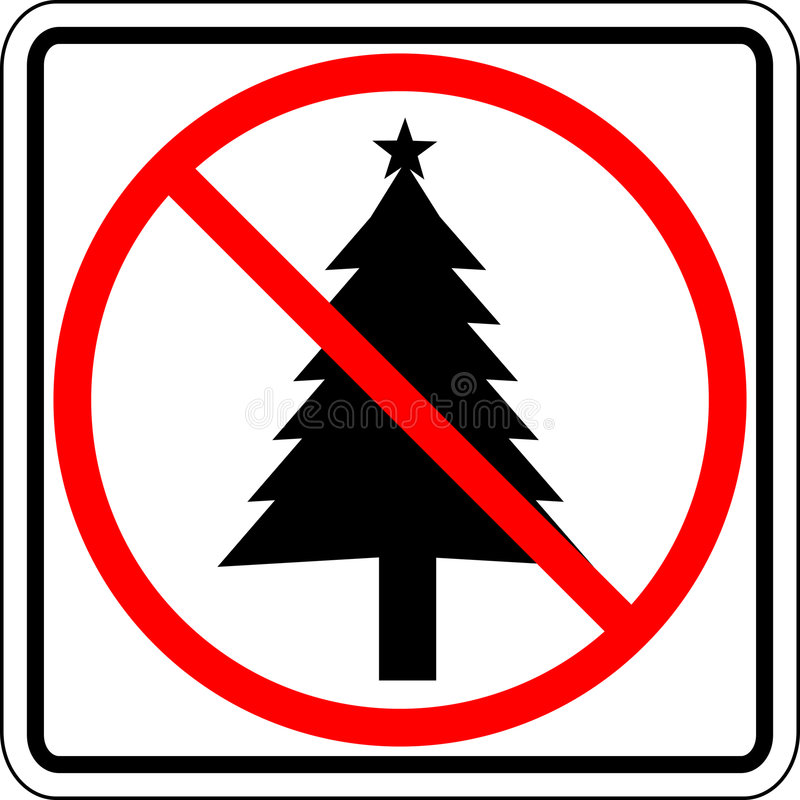 Signe interdit par Noël illustration libre de droits