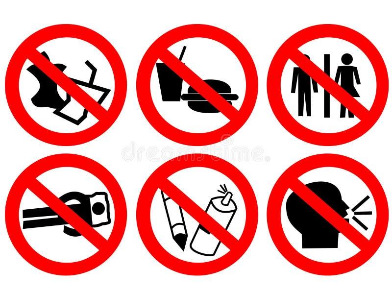 Signe interdit parespace public illustration de vecteur