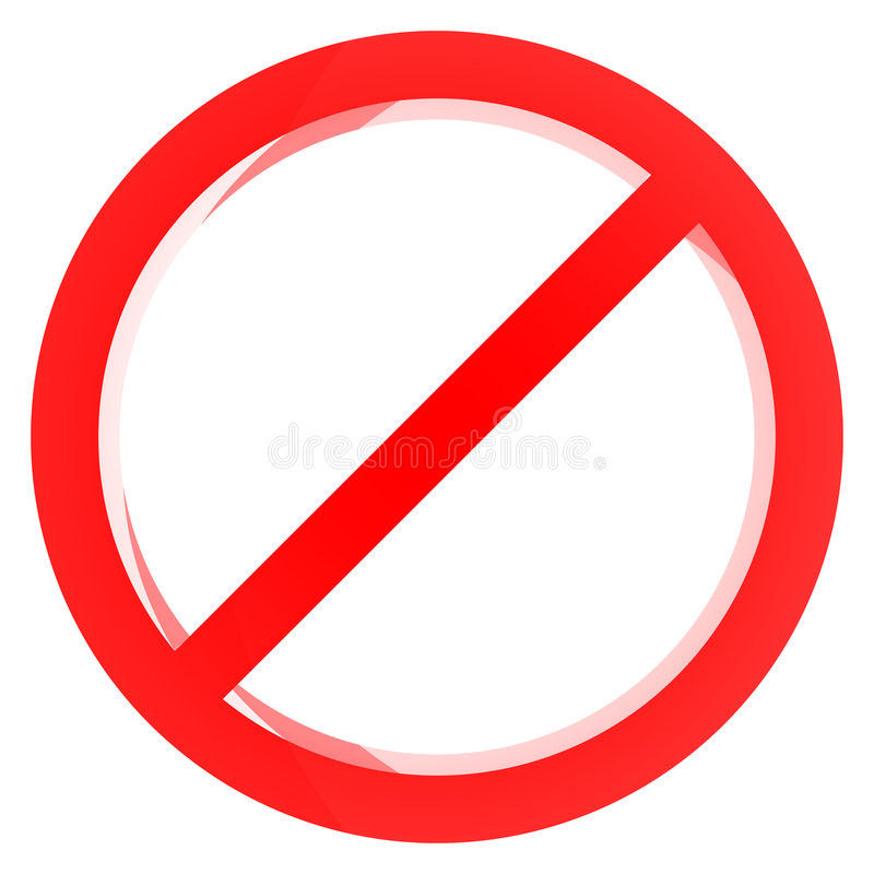 Signe interdit rouge illustration stock
