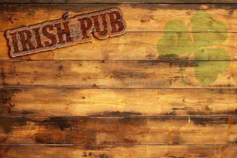 Signe irlandais de bar illustration de vecteur