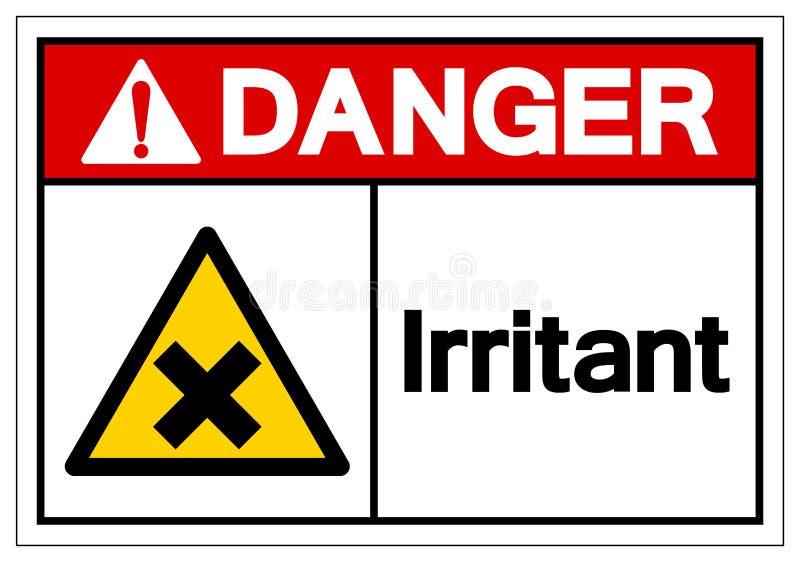 Signe irritant de symbole de danger, illustration de vecteur, isolat sur le label blanc de fond EPS10 illustration stock