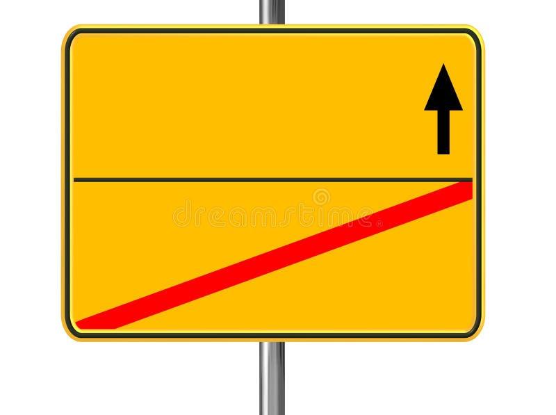 Signe jaune blanc illustration de vecteur