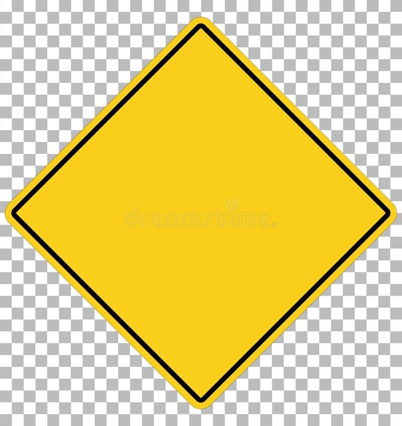 Signe jaune blanc symbole jaune vide sur transparent guerre vide illustration libre de droits