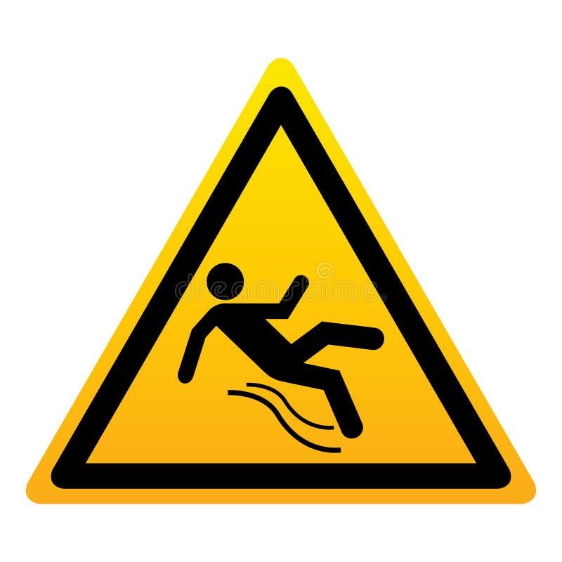 Signe jaune de triangle d'isolement par plancher humide illustration de vecteur