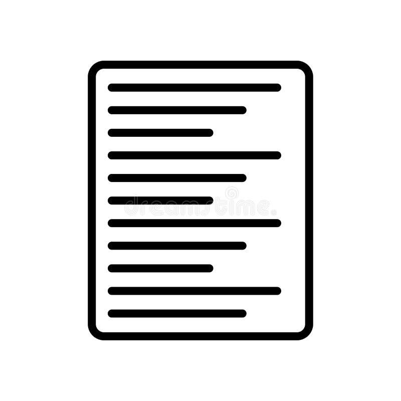 Signe laissé et symbole de vecteur d'icône d'alignement d'isolement sur le CCB blanc illustration stock
