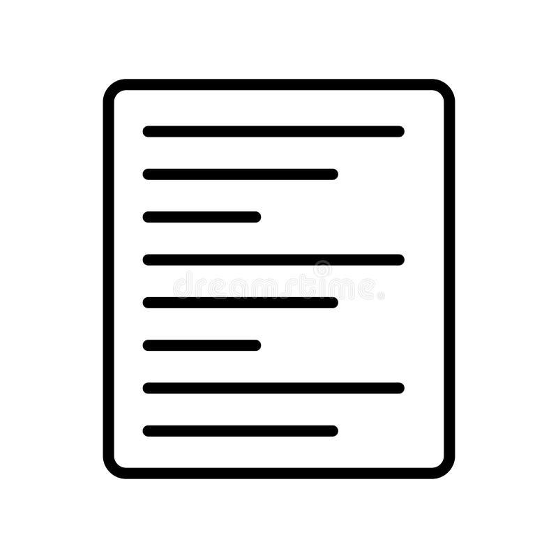 Signe laissé et symbole de vecteur d'icône d'alignement d'isolement sur le CCB blanc illustration libre de droits