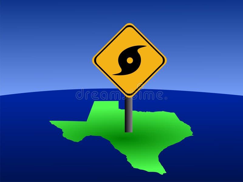 signe le Texas de carte d'ouragan illustration de vecteur