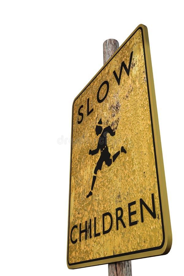 Signe lent illustration libre de droits