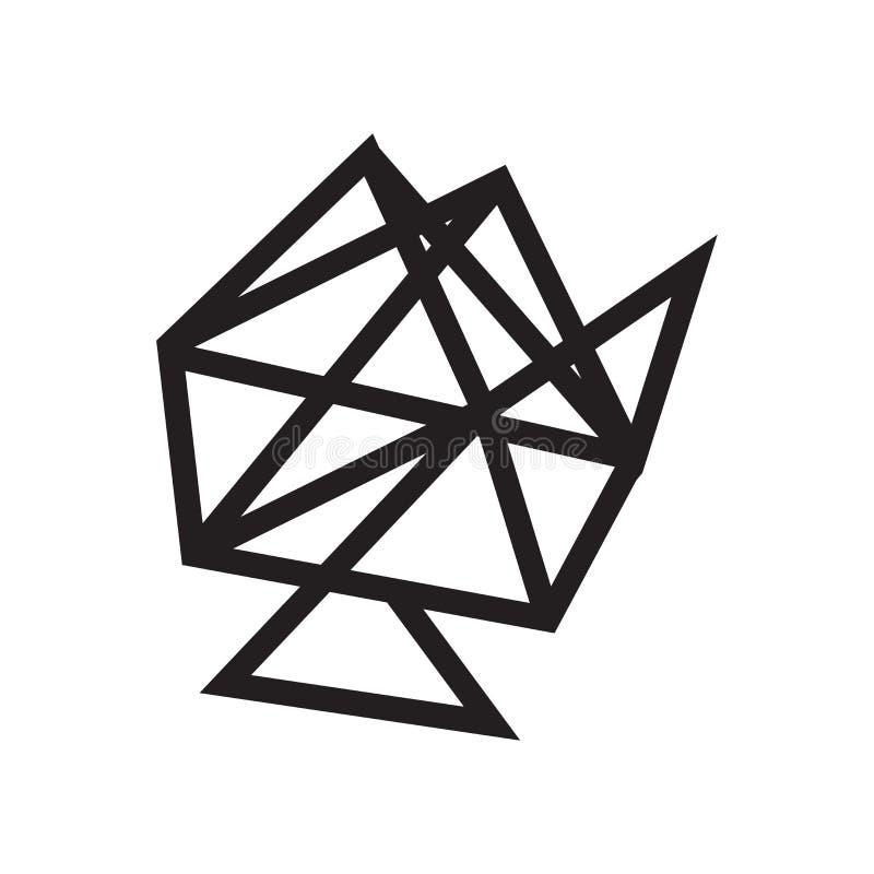 Signe lié et symbole de vecteur d'icône de Web d'isolement sur le Ba blanc illustration stock