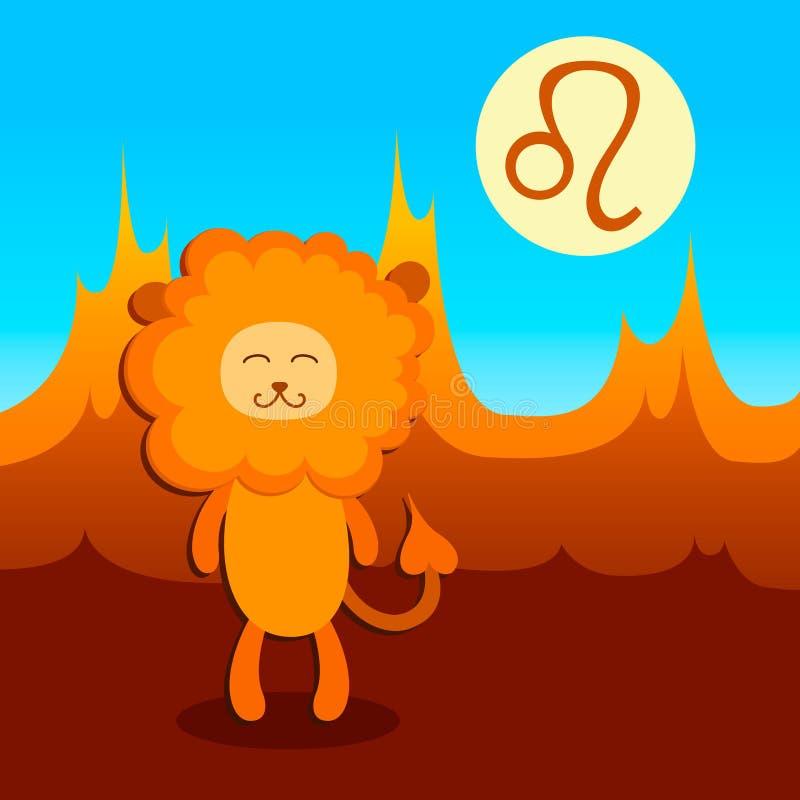 Signe Lion de zodiaque illustration de vecteur