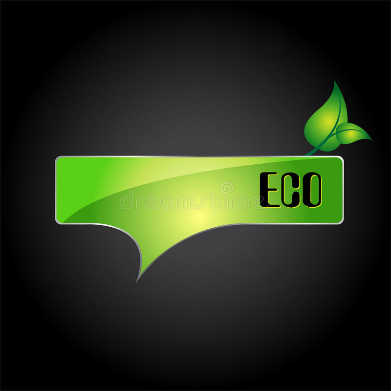 Signe/logo de l'information d'Eco illustration libre de droits