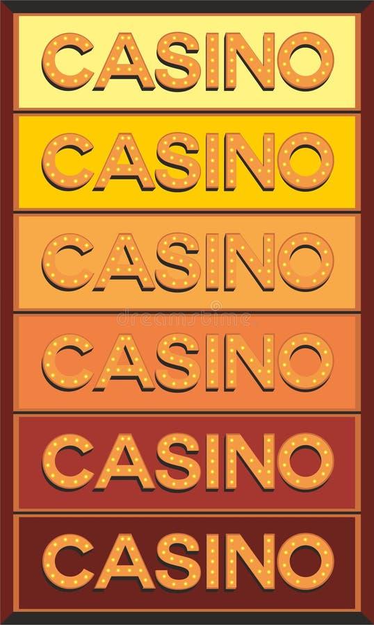 Signe lumineux d'ampoule de casino photo libre de droits