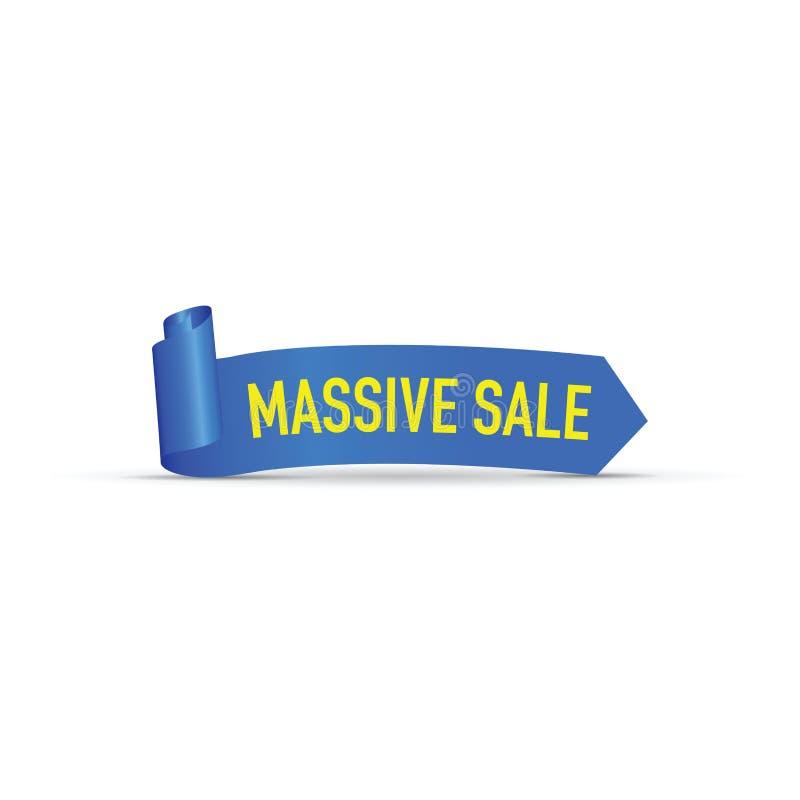 Signe massif bleu de vente illustration libre de droits