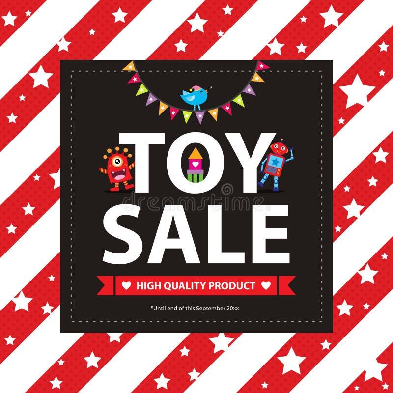 Signe mignon de vente de jouet de monstre illustration stock