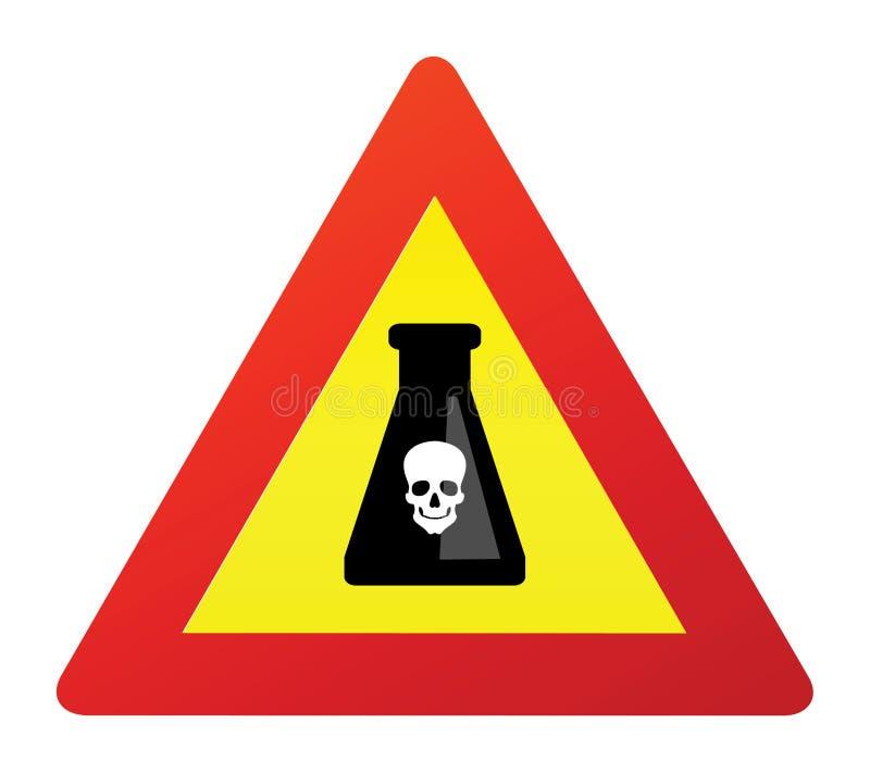 Signe mortel de poison illustration libre de droits