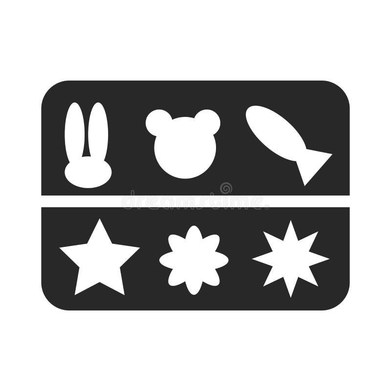 Signe moulé et symbole de vecteur d'icône d'isolement sur le fond blanc, concept moulé de logo illustration stock