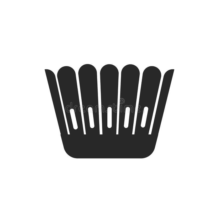 Signe moulé et symbole de vecteur d'icône d'isolement sur le fond blanc, concept moulé de logo illustration libre de droits