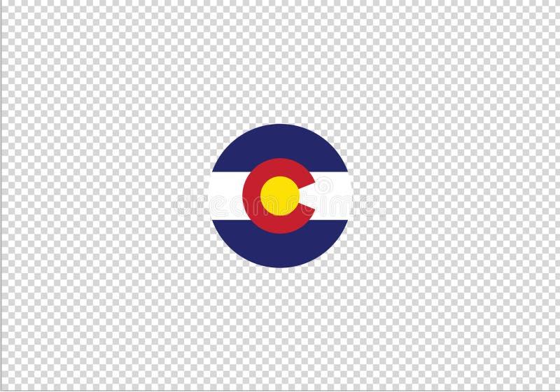 Signe national de symbole d'état de drapeau du Colorado illustration libre de droits