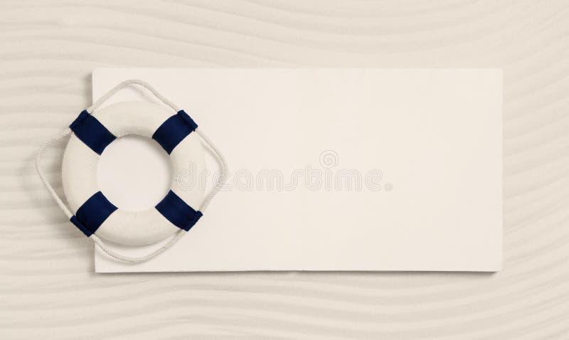 Signe nautique avec un vivant-épargnant Décoration maritime d'été pour image stock