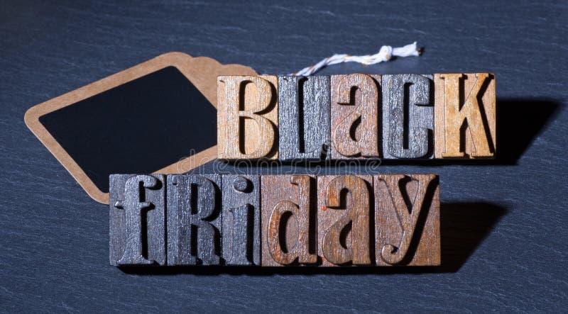Signe noir de vendredi photo libre de droits