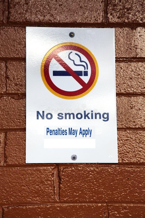 Signe non-fumeurs image stock