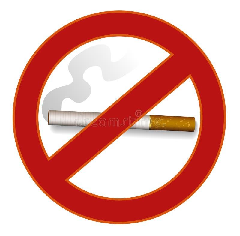 Signe non-fumeurs illustration libre de droits