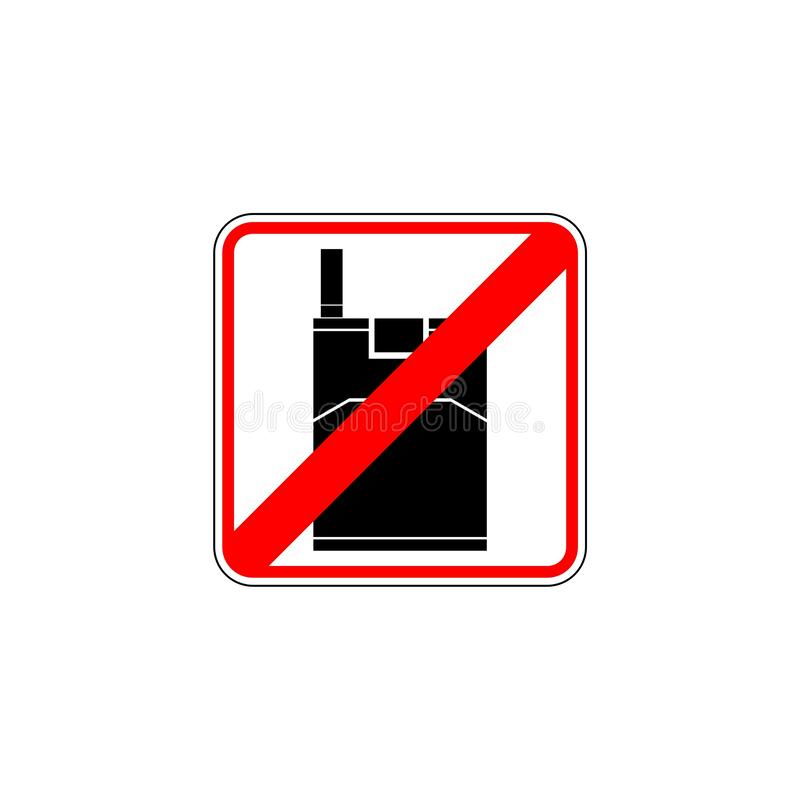 Signe non-fumeurs rouge, illustration simple de vecteur illustration libre de droits