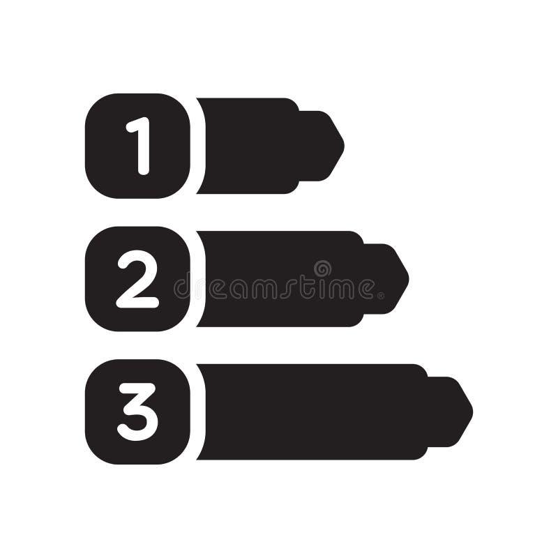 Signe numéroté et symbole de vecteur d'icône de l'information d'isolement sur le whi illustration stock