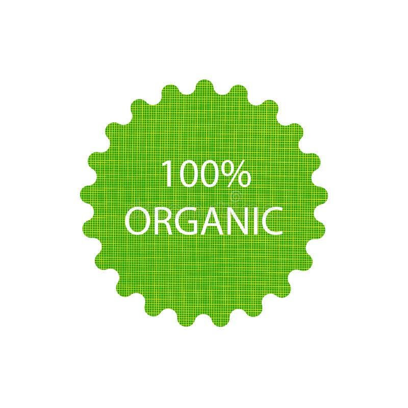 Signe organique du vecteur 100, calibre de empaquetage de label illustration de vecteur