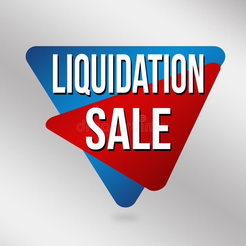 Signe ou label de vente de liquidation pour la promotion d'affaires illustration de vecteur