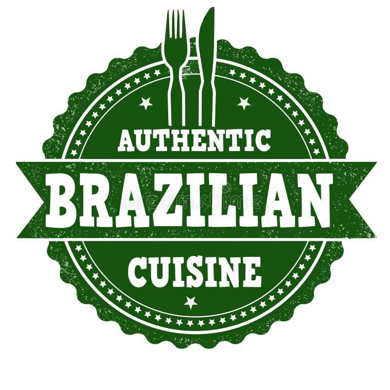 Signe ou timbre brésilien de cuisine illustration de vecteur