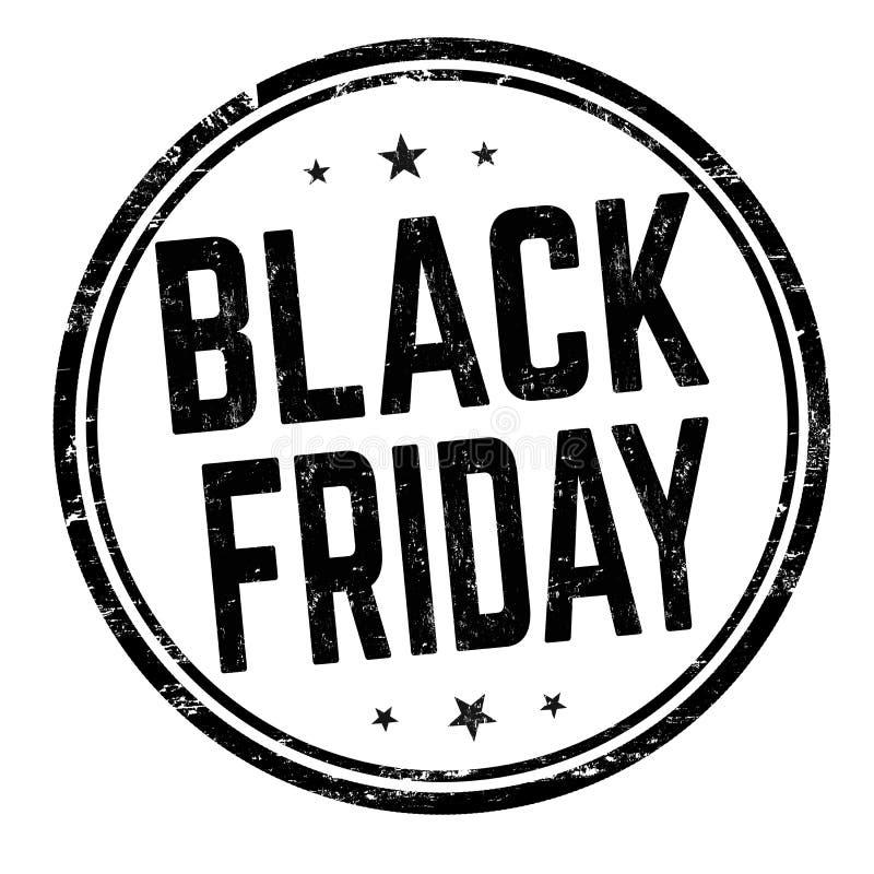 Signe ou timbre noir de vendredi illustration stock