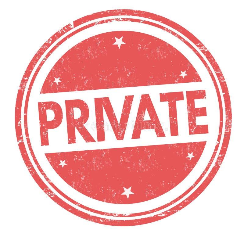 Signe ou timbre privé illustration de vecteur