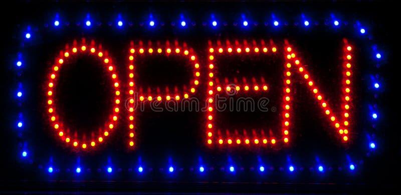 Signe ouvert de DEL photo stock
