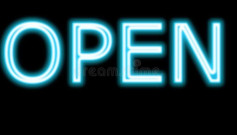 Signe ouvert de néon photos libres de droits