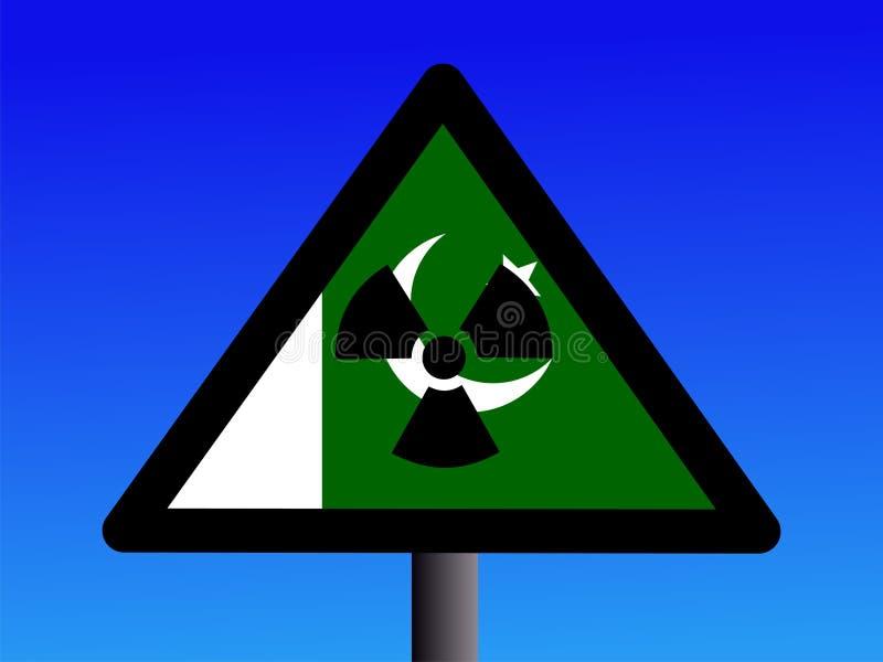 Signe pakistanais de radioactivité illustration de vecteur