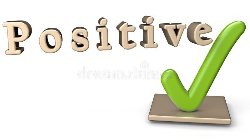 Signe positif illustration stock