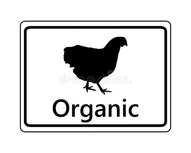 Signe pour la conservation organique de volaille illustration stock