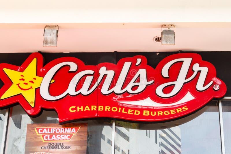 Signe pour le JR de Carls photo stock