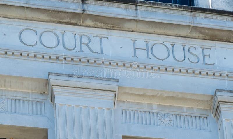 Signe pour le tribunal photos libres de droits