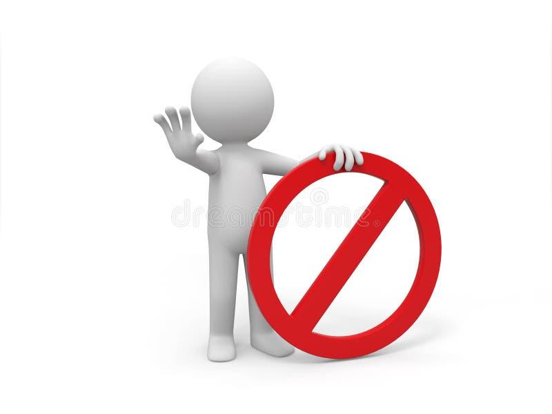 Signe prohibitif illustration libre de droits