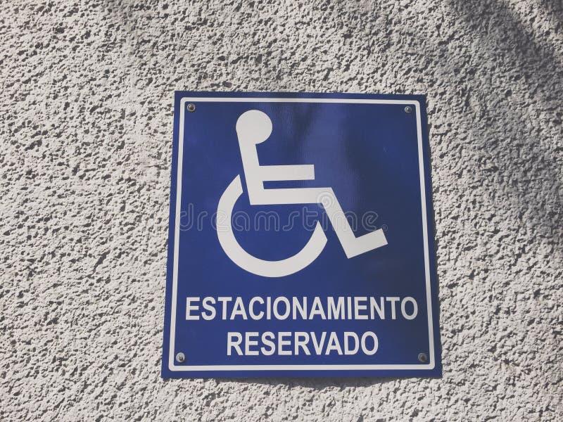Signe réservé de stationnement images libres de droits