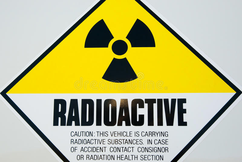 Signe radioactif image libre de droits